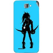 Snooky 42526 Digital Print Mobile Skin Sticker For Micromax Canvas Mad A94 - Blue