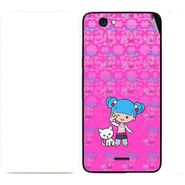 Snooky 42737 Digital Print Mobile Skin Sticker For Micromax Canvas knight cameo A290 - Pink