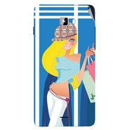 Snooky 42762 Digital Print Mobile Skin Sticker For Micromax Canvas Nitro A311 - Blue