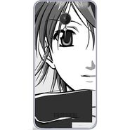 Snooky 42824 Digital Print Mobile Skin Sticker For Micromax Canvas Spark Q380 - Grey