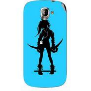 Snooky 42845 Digital Print Mobile Skin Sticker For XOLO A500 - Blue