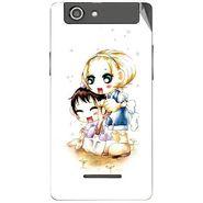 Snooky 42871 Digital Print Mobile Skin Sticker For XOLO A500s - White