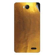 Snooky 43161 Mobile Skin Sticker For Intex Aqua 4.5e - Golden