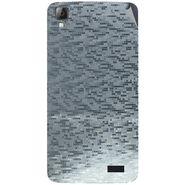 Snooky 43349 Mobile Skin Sticker For Intex Aqua N7 - silver