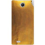 Snooky 43365 Mobile Skin Sticker For Intex Aqua N17 - Golden