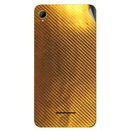 Snooky 43377 Mobile Skin Sticker For Intex Aqua Power HD - Golden