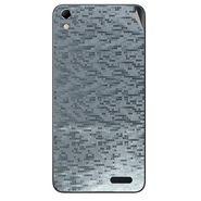 Snooky 43421 Mobile Skin Sticker For Intex Aqua Q3 - silver