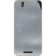 Snooky 43914 Mobile Skin Sticker For Lava Iris X1 Grand - silver