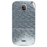 Snooky 43985 Mobile Skin Sticker For Micromax Ninja A89 - silver