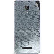 Snooky 44381 Mobile Skin Sticker For Micromax Micromax Canvas Spark Q380 - silver