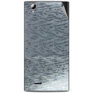 Snooky 44477 Mobile Skin Sticker For Xolo A600 - silver