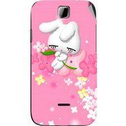 Snooky 45881 Digital Print Mobile Skin Sticker For Micromax Ninja 3.5 A54 - Pink