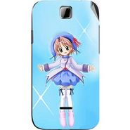 Snooky 45895 Digital Print Mobile Skin Sticker For Micromax Ninja 3.5 A54 - Blue