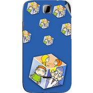 Snooky 45904 Digital Print Mobile Skin Sticker For Micromax Ninja 3.5 A54 - Blue