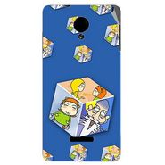 Snooky 45936 Digital Print Mobile Skin Sticker For Micromax Canvas Fun A74 - Blue