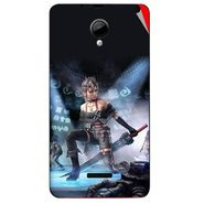 Snooky 45949 Digital Print Mobile Skin Sticker For Micromax Canvas Fun A76 - Blue