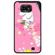 Snooky 46041 Digital Print Mobile Skin Sticker For Micromax Superfone Pixel A90 - Pink