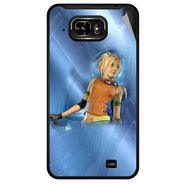 Snooky 46044 Digital Print Mobile Skin Sticker For Micromax Superfone Pixel A90 - Blue