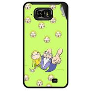 Snooky 46066 Digital Print Mobile Skin Sticker For Micromax Superfone Pixel A90 - Green