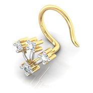 Avsar Real Gold & Swarovski Stone Chennai Nose Pin_Av22yb