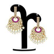 Spargz Purple Antique Pearl Hangings_Aier344 - White