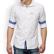 Crosscreek Printed Casual Shirt_1060301 - White