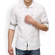Crosscreek Printed Casual Shirt_1060302 - White