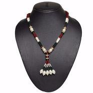 Pourni Pearl & Color Stone Necklace Mala _Nk600