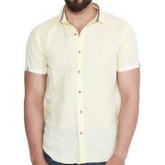Branded Linen Casual Shirt_Zara07 - Yellow