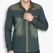 Stylox Cotton Shirt_rstdnm222 - Rust Blue