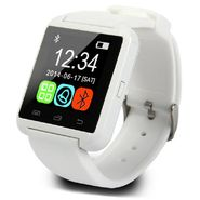 Being trendy AP01 with SIM card slot, 32GB Memory card slot and Fitness Tracker Stainless Steel Smartwatch(White Strap)