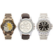 Pack of 3 Adine Analog Wrist Watches For Men_R010410