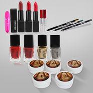 Bridal Facial Kit 5pcs with 15pcs Cosmetic Kit & Face Massager