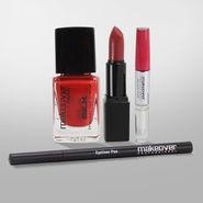 Perfect Beauty Combo Of Eyematic Kajal, Lipgloss, Nail Paint, Lipstick