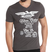 Buffalo Half Sleeves Printed Cotton Tshirt For Men_Bfdg - Dark Grey