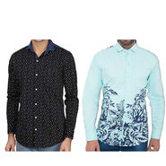 Pack of 2 Slim Fit Cotton Shirts For Men_A50100142 - Multicolor