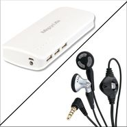 Maxxlite 10000 mAh 3 Port USB Power Bank with Inbuilt LED Torch with Free Maxxlite 3.5 mm Super Bass Earphone