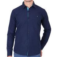 Branded Full Sleeves Cotton Shirt_R12knblu - Blue