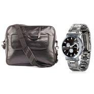 Fidato Combo of 1 Watch For Men + 1 Laptop Bag_Fdwc29