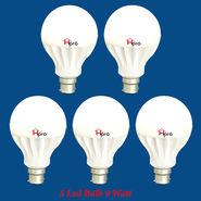 Home Pro Combo Of 5 Led Bulb 9 Watt