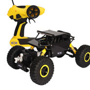 Radio Control Rock Crawler 4WD  Monster Car Rally Toy - Black