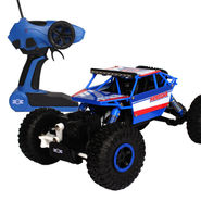Radio Control Rock Crawler 4WD  Monster Car Rally Toy - Blue