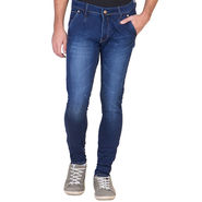 Slim Fit Stretchable Jeans For Men_Fpj165 - Blue