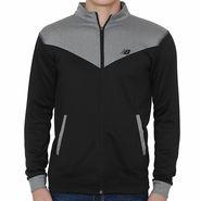 Branded Slim Fit Jacket For Men_Nbgrey - Grey & Black