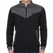 Branded Slim Fit Jacket For Men_Nbdgrey - Dark Grey & Black