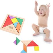 Wooden Colorful Tangram Puzzle Learning Game For Kids