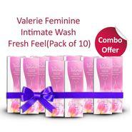 Valerie Pack Of 10 Feminine Intimate Wash - Fresh Feel