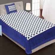 Priya Fashions Cotton King Size Jaipuri Printed 1 Single Bedsheets With 1 Pillow Covers-70X100B21
