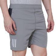 Adidas Plain Regular Fit Shorts_Adidasgy - Grey