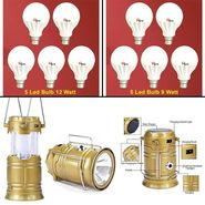 Combo of Solar Lantern & 10 LED bulbs